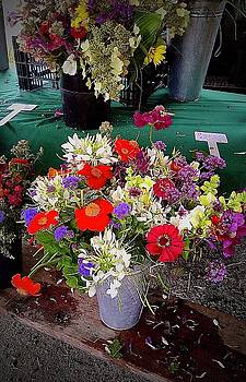 Market Flowers Late In the Day by Alida M Haslett