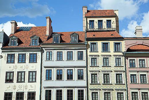 Market Square Houses by Ramunas Bruzas