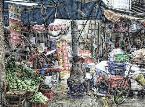 Market Stall In Old Hong Kong by Toni Abdnour