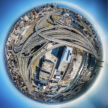 Marquette Interchange Little Planet by Randy Scherkenbach