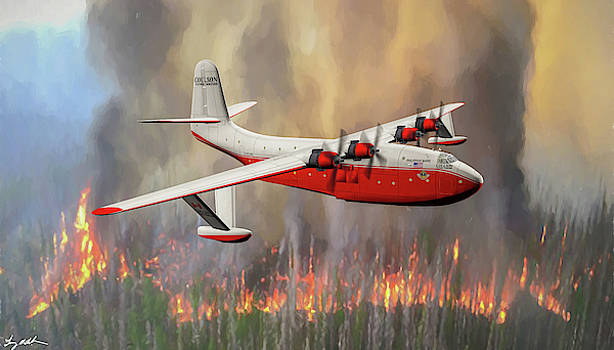 MARS Fire Tanker - Oil by Tommy Anderson