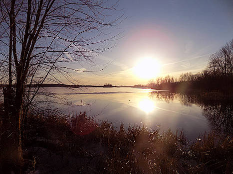 Marsh Sunset in March by Susan Janus