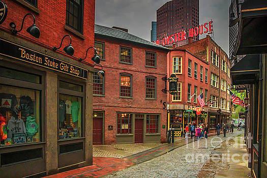 Marshall Street Boston by Elizabeth Dow