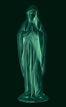 Mary Glowing in the Dark by Tin Tran