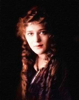 Mary Pickford, portrait by Vincent Monozlay