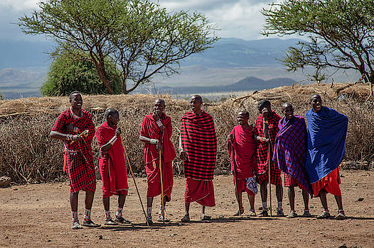 Maasai Men by Thomas Kallmeyer