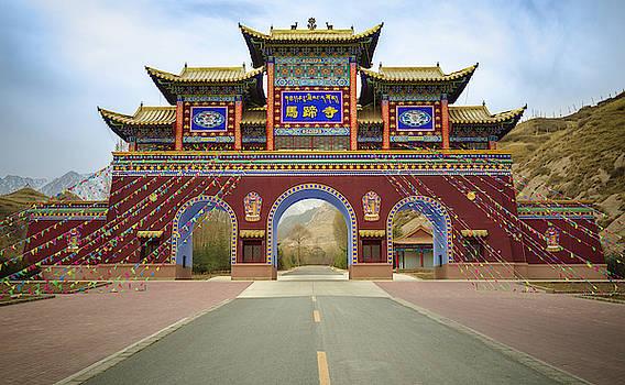 Mati Si Temple Gate Zhangye Gansu China by Adam Rainoff