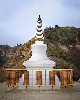 Mati Si Temple Prayer Wheels Zhangye Gansu China by Adam Rainoff