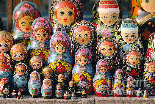 Matryoshka, Russian Nesting Dolls texture in Moscow by Wernher Krutein