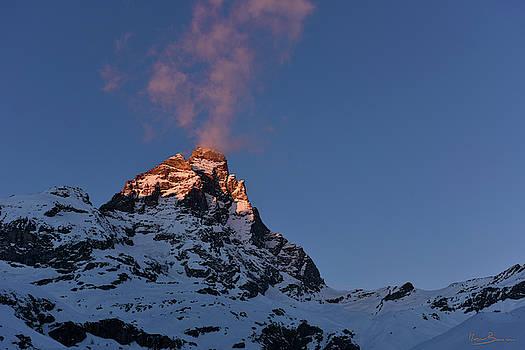 Matterhorn in the sunset by Marco Busoni