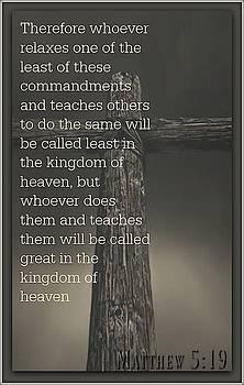 Matthew 5 19 by David Norman