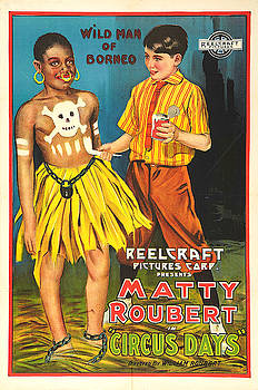 Matty Roubert in Circus Days - Vintage Advertising Poster by Siva Ganesh