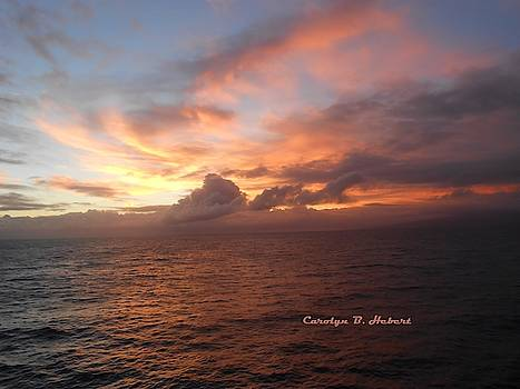 Maui Pacific Ocean Sunset by Carolyn Hebert