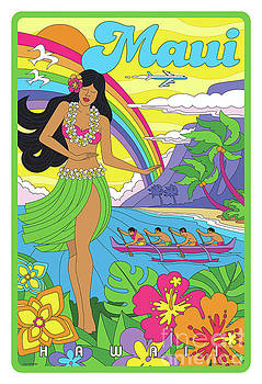 Maui Poster - Pop Art - Travel by Jim Zahniser
