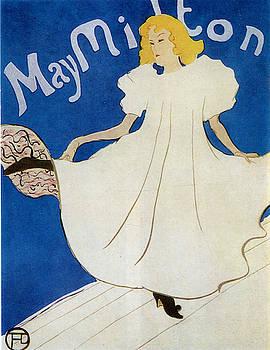 May Milton - 1895 1 by Henri de Toulouse-Lautrec
