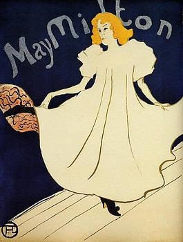 May Milton - 1895 2 by Henri de Toulouse-Lautrec