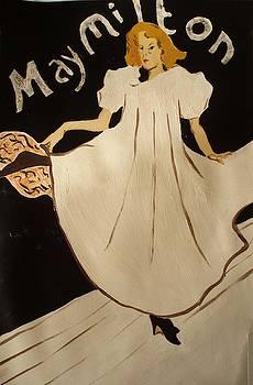 May Milton - 1895 3 by Henri de Toulouse-Lautrec
