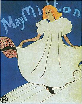 May Milton - 1895 4 by Henri de Toulouse-Lautrec