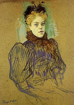 May Milton - 1895 - Art Institute of Chicago - Painting - oil on cardboard by Henri de Toulouse-Lautrec