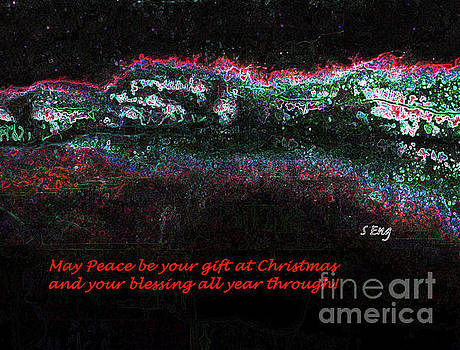 Sharon Williams Eng - May Peace be Your Gift Christmas Card 300