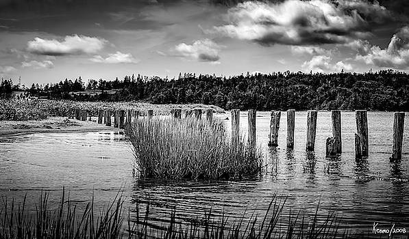 McCormack's Beach Provincial Park, Black and White by Ken Morris
