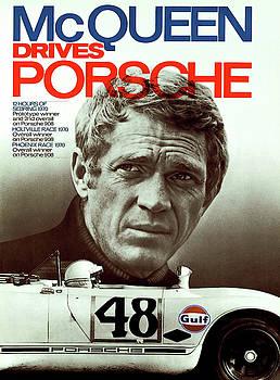 McQueen Drives Porsche by Thomas Pollart