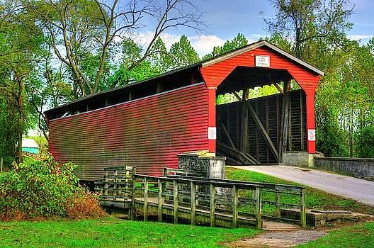 MD Covered Bridges - Foxcatcher Farms Covered Bridge Over Big Elk Creek No. 1B - Cecil County by Michael Mazaika