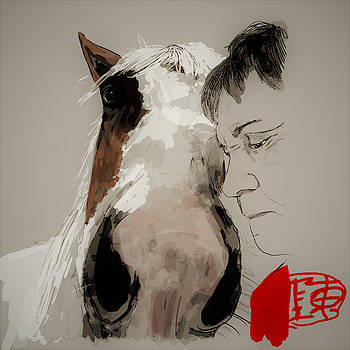 Me and my horse Willow by Debbi Saccomanno Chan