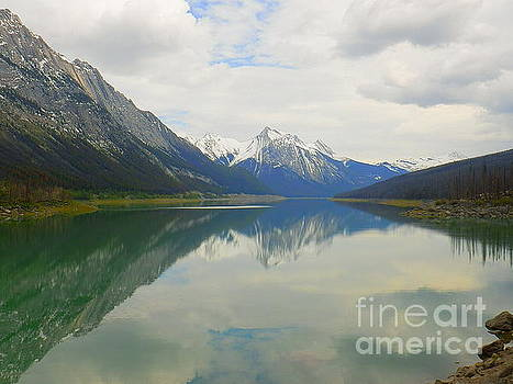 Medicine Lake Jasper National Park Alberta Canada by Art Sandi