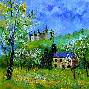 Medieval castle in spring by Pol Ledent