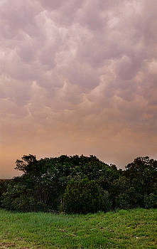 Mega Mammatus Clouds  by Ally White