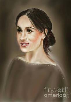 Megan Markle Portrait Painting by Remy Francis