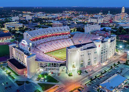 Memorial Stadium in Twilight - Closeup by Mark Dahmke