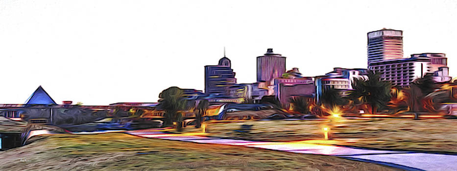 Memphis Skyline by Barry Jones