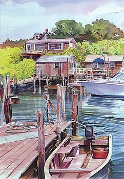 Menemsha Harbor by P Anthony Visco