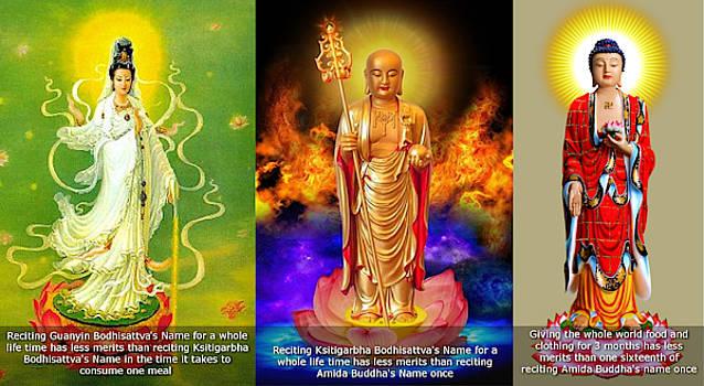 Merits of chanting Amida Buddha's name by Tin Tran