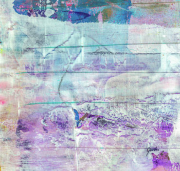 Mermaid Dream - Bright Pastel Tone Purple And White Abstract Art by Modern Abstract