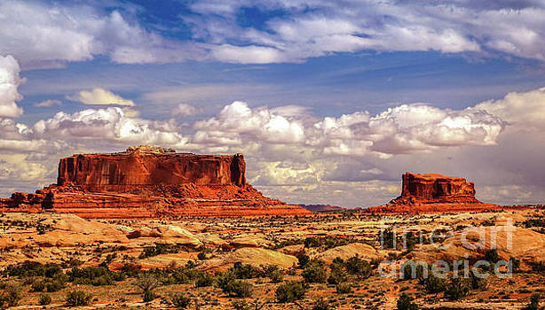 Merrimack and Monitor Buttes by Bob Lentz