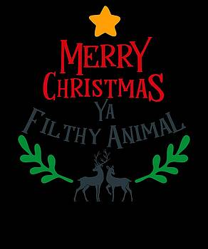 Merry Christmas You Filthy Animal Sibling Gift Present Brother Sister  by Cameron Fulton