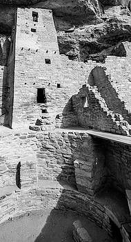 Mesa Verde Cliff Dwellings - Black and White by Gregory Ballos