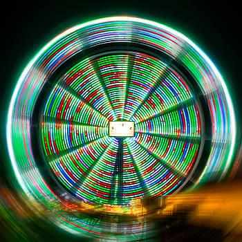 Mesmerizing Farris Wheel  by Christine Buckley