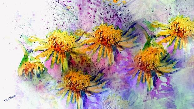 Messy Watercolor Flowers by Lisa Kaiser