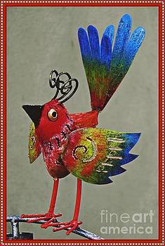 Metal Bird on a Pipe   by Sarah Loft