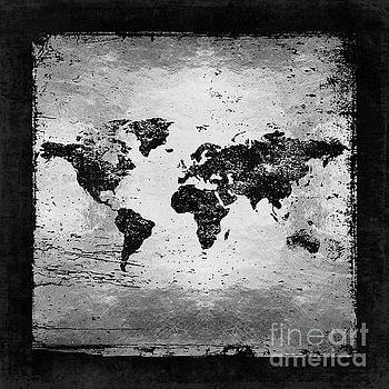 Tina Lavoie - Metallic Vintage Grunge World Map