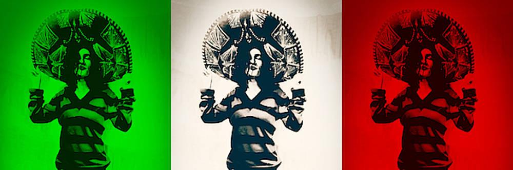 Art Ramon Paintings - Mexican Charra - Mex Flag