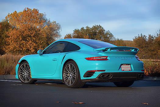 #Miami #Blue #Porsche 911 #Turbo S #Print by ItzKirb Photography