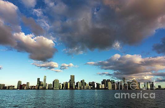 Miami Skyline  Cloudscape 2  by Edie Ann Mendenhall