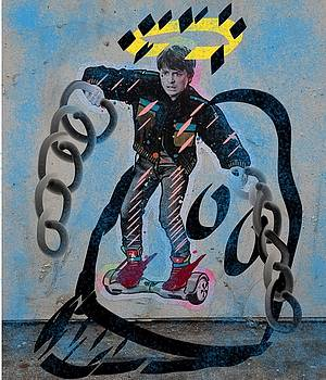 Michael J. Fox zips up and down the streets of New York by Yonko Kuchera