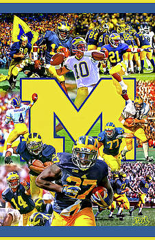 Michigan Wolverines Legends Football by Mark Spears