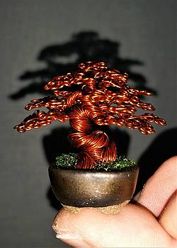 Micro Wire Tree Sculpture #194 By Rick Skursky by Ricks Tree Art